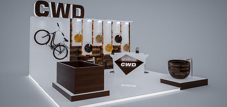 Stoisko na targach firmy CWD